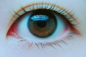瞳に写った景色画像
